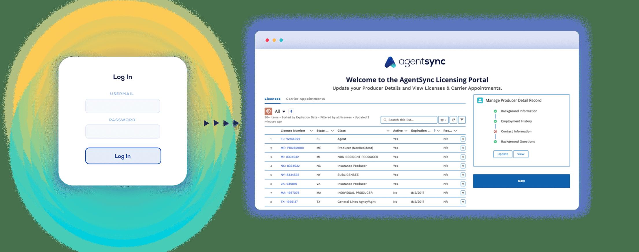 AgentSync Agent Portal Screenshot