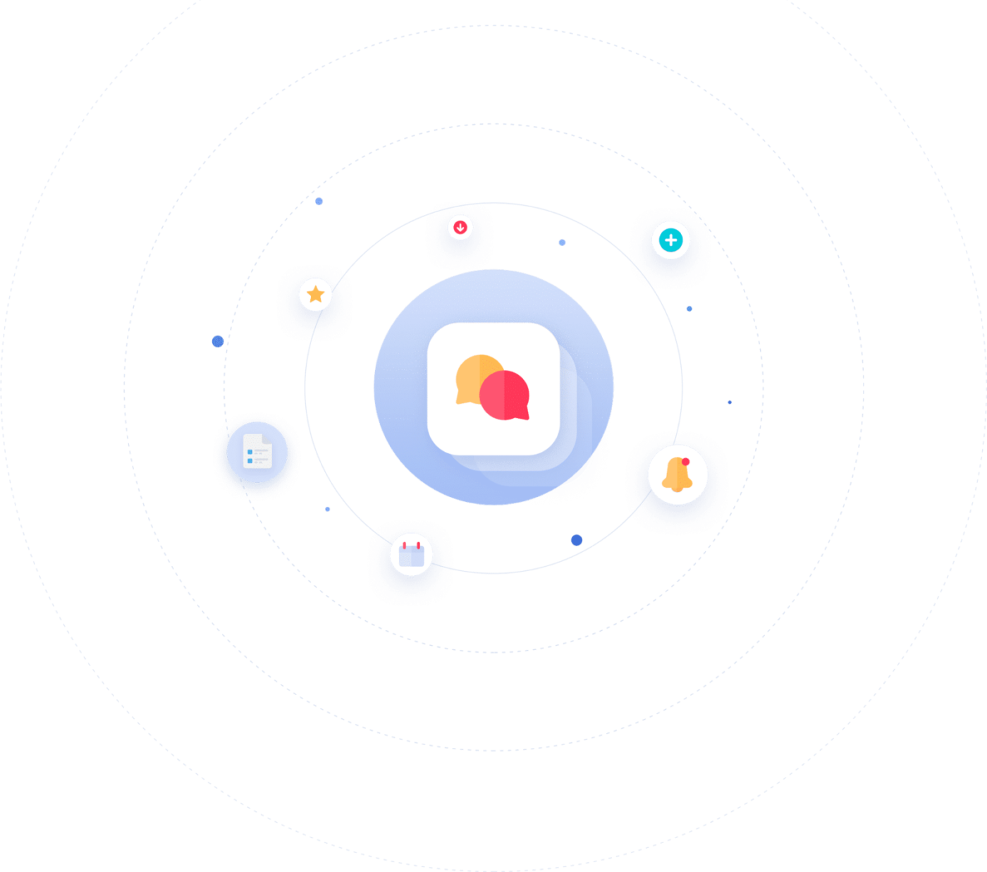Resources Support Overview Icon Graphic
