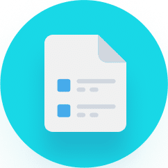 Circular Document Icon with Green Background