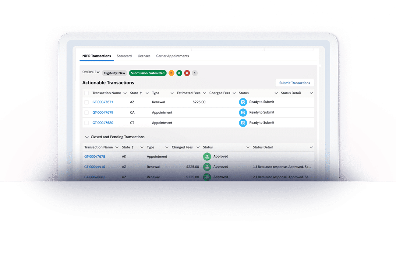 NIPR Transactions with AgentSync