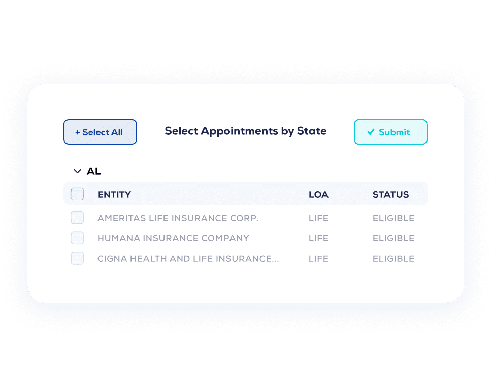 AgentSync Select Appointments Dashboard